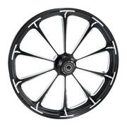 30x3.5and039and039 Front Wheel Rim Hub Single Disc Fit For Harley Touring 08-21 Non Abs
