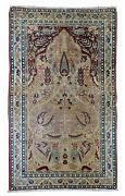 Handmade Antique Oriental Rug 2.10and039 X 4.8and039 90cm X 146cm 1880s - 1b525
