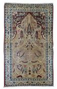 Handmade Antique Oriental Rug 2.10and039 X 4.8and039 90cm X 146cm 1880s - 1b524