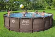 Coleman 18andrsquo X 48andrdquo Power Steel Frame Deluxe Series Above Ground Swimming Pool