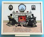 Vintage Silhouette Picture Blumenthal And Co West Branch Michigan Advertising