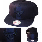 Mitchell And Ness Chicago Bulls Casquette Snapback Nba Marine Militaire Ton Sur