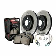 Stoptech Sport Axle Pack Brake Kit Drilled And Slotted 4 Wheel - 978.47004