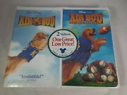 Air Bud + Golden Receiver 2 Pack Vhs Tape Combo New And Sealed Walt Disney Promo
