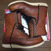 Used 2000 Red Wing Reprint 877 Navy Blue Tag Mens Boots 27cm Brown With Box