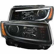 Anzo For Hyundai Genesis Coupe 2013 2014 Projector Headlights Black