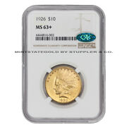 1926 10 Gold Indian Head Eagle Ngc Ms63+ Cac Certified Philadelphia Coin