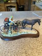 Le Lowell Davis From A Friend To A Friend Figurine Horse Carriage Dog Man