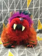 Gwonk My Pet Monster Vintage 1986 Amtoy Soft Toy Plush Puppet With Handcuffs