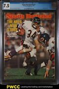 1976 Sports Illustrated Newsstand Walter Payton 1st Cover V45 21 Cgc 7.5