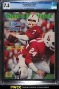 1982 Sports Illustrated Newsstand John Elway 1st College Cover V57 20 Cgc 7.5