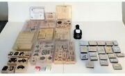 Huge Lot Stampin Up Stamps Vintage Animal Stamps With Accessory 100+ Pieces