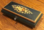 Sorrento Specialties Italy Reuge Swiss Movement Floral Jewelry Music Box