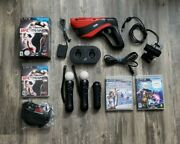 Mega Playstation Move Bundle 2 Motion Controllers 1 Nav Ps3 Vr Charger And Games
