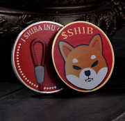 2pcs Shib The Dogecoin Cool Red Gold And Silver Shib Inu Coin Commemorative Coin
