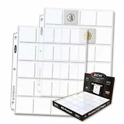 100 Polypropylene 20 Pocket Coin Pages For 2 X 2s
