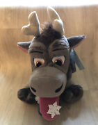 """The Disney Store Sven Snowflake Sitting Plush Holiday Edition 13"""" New With Tags"""