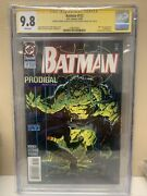 Batman 512 Cgc 9.8 Ss Both Gustovich And Moench Great Killer Croc Cover