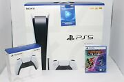 ✈️✈️brand New Ps5 Sony Playstation 5 Disc Console Game Bundle Free Shipping