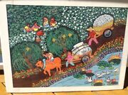 Original Chinese Painting Taking New Cotton For Sale Chinese Peasants