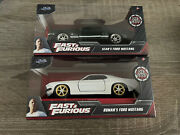 Jada Fast And Furious Die-cast Car Sean's Ford Mustang And Roman's Mustang Lot Of 2