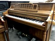 Schafer And Sons Console Upright Piano 42 Satin Pecan