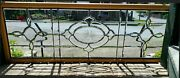 Large Victorian Beveled Glass Window With Cut Center