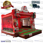16x13ft Commercial Inflatable Christmas Santa Claus Bounce House With Air Blower