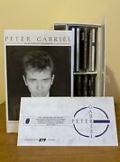 Rare 1988 Limited Edition Peter Gabriel Box Set 8 Cdandrsquos And Biography 879/1000 Uk