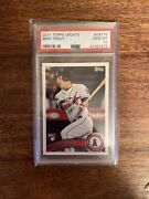 2011 Topps Update Mike Trout Rookie Psa 10 Gem Mint - Great Player And Card