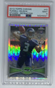 2012 Topps Chrome Russell Wilson Stands-refractor Rookie Rc 40 Psa 9