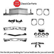 1968 Chevelle Ft/rr Bumpers W Brackets Grill W/supports Bezels Headlamp Buckets+