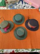 4 Vintage July 4th Patriotic Uncle Sam Hats Candy / Nut Containers Or Cups Japan