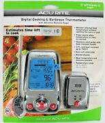 Acu-rite Digital Cooking And Barbeque Thermometer Wireless Pager New