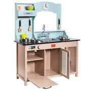 Ihubdeal Classic Pretend And Play Kids Kitchen Set Cook Workstation Fun Toy Set