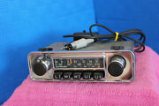 Blaupunkt Frankfurt Vintage Chrome Classic 60and039s - 70and039s Radio + Aux Mp3 Adapter