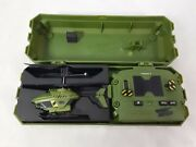 Air Hogs Portable Mini Radio Control R/c Helicopter Army Green Complete In Case