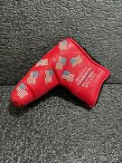 Scotty Cameron 2002 Red Dancing Flag Blade Cover 🔥🔥🔥