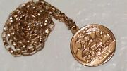 Rare 9ct Yellow Gold Double Sided St Christopher And St George Pendant And Chain
