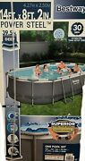 Bestway Power Steel 14 X 8.2and039x39.5 Oval Pool Set W/filter Pump/safety Ladder