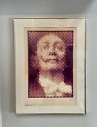 Faces Of Dali Limited Edition Silkscreen Jean-pierre Vasarely Yvaral Framed