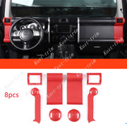 For Toyota Fj Cruiser 07-2014 Carbon Fiber Red Left And Right Air Outlet Vent