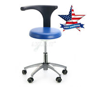 5x Dental Dentist Doctor Assistant Stool Adjustable Mobile Chair Pu Leather Usa