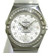 Auth Omega Constellation Blush 123.15.27.60.52.001 Silver 91964789 Womens Watch