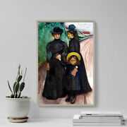Edvard Munch - The Book Family 1903 Photo Poster Painting Art Print