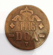 Coin 20 Heller 1916 German East Africa Obverse A Reverse B.ad2275