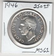 1946 Canada One Silver Dollar Coin - Ms-62