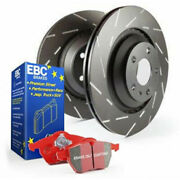 Ebc For Ford F-250 Super Duty 2013-2018 Front Brake Kit S4 Redstuff Sold As Kit