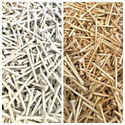 3 1/4 3.25 Long Golf Tees - White Plastic And Natural Wood Choose Quantity