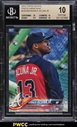 2018 Topps Update Photo Variations Ronald Acuna Jr Rookie Rc Bgs 10 Pristine